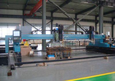 CNC גנטרי פלזמה להבה מכונת חיתוך מתכת גיליון מתכת