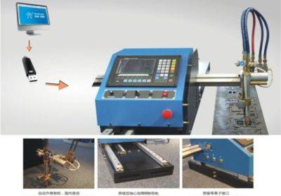 פלזמה מכונת חיתוך CNC עבור צינור פלדה עם סיבוב 43/63/100/160 / 200A למכירה